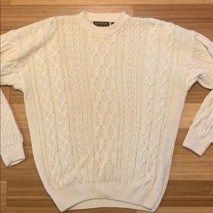 Men's Vintage Ivory Sweater